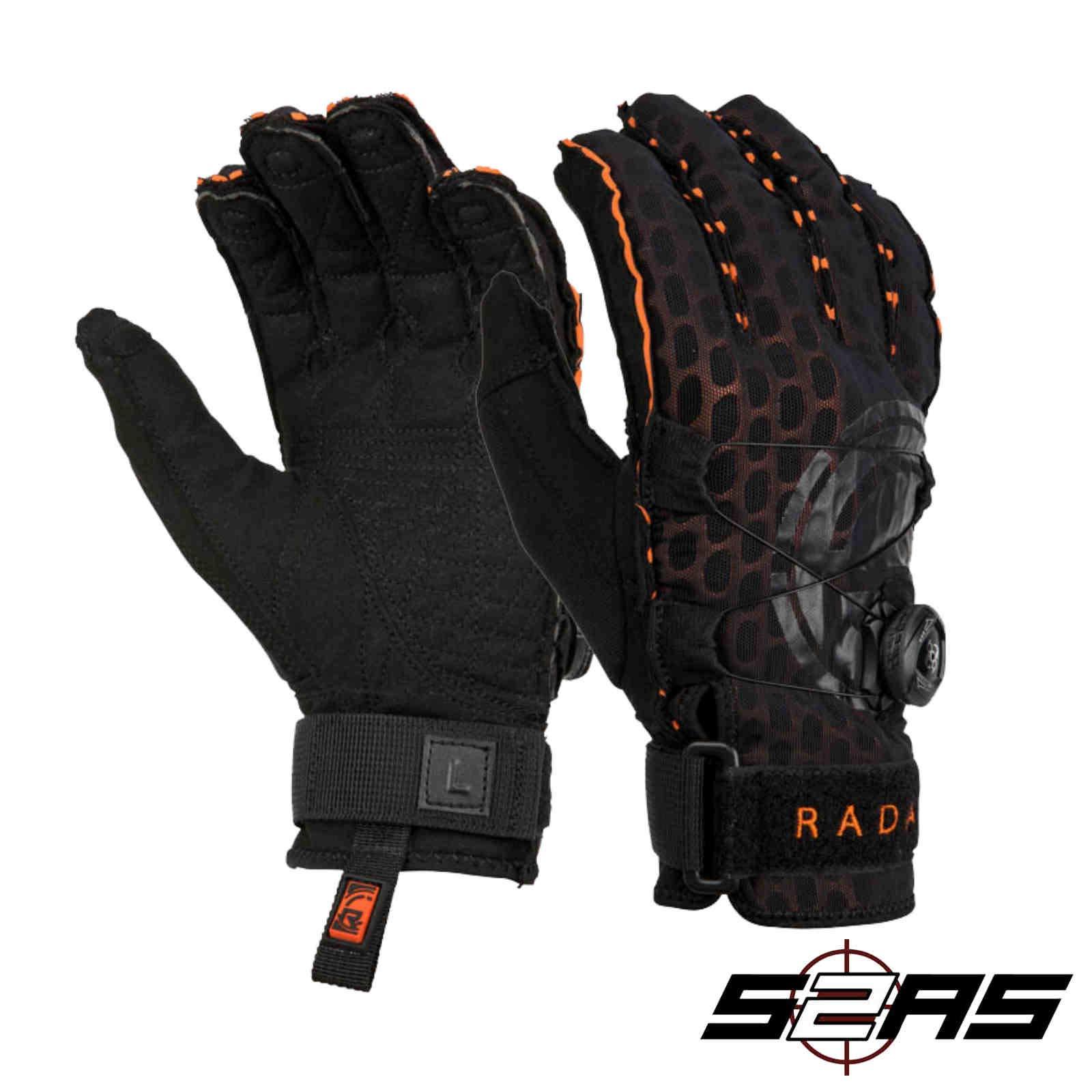 Radar Vapor A - BOA - Inside-Out Glove - Black/Orange Ariaprene - XL