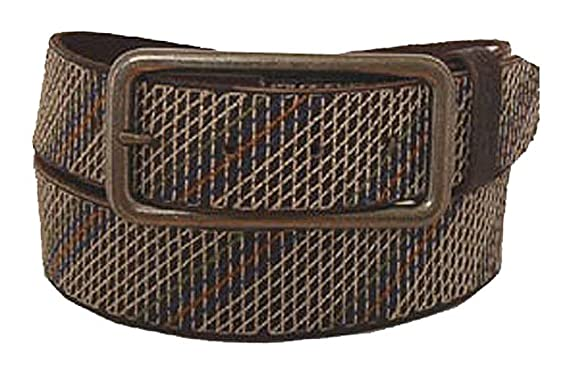 Desigual Ceinture homme casual belt leather brown beige  Amazon.fr ... a1d63f9f7e6