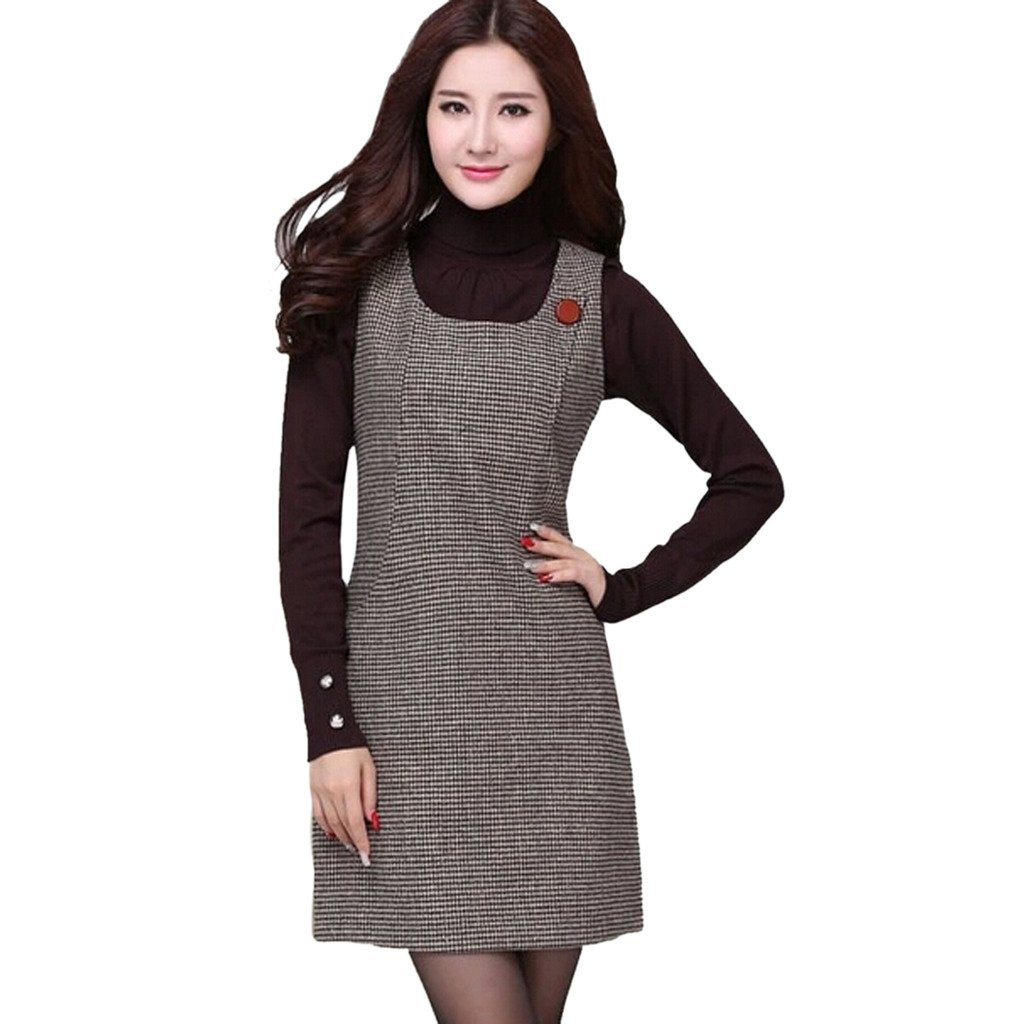 05d128befc8 Ms Stunner Women s Sleeveless Houndstooth Dresses at Amazon Women s Clothing  store