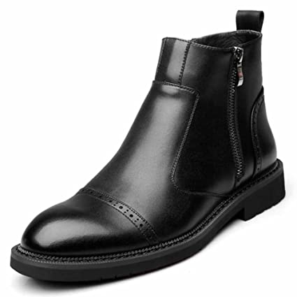 009e61204cd Amazon.com: GLSHI Men Casual Chelsea Boots Winter New Leather Shoes ...
