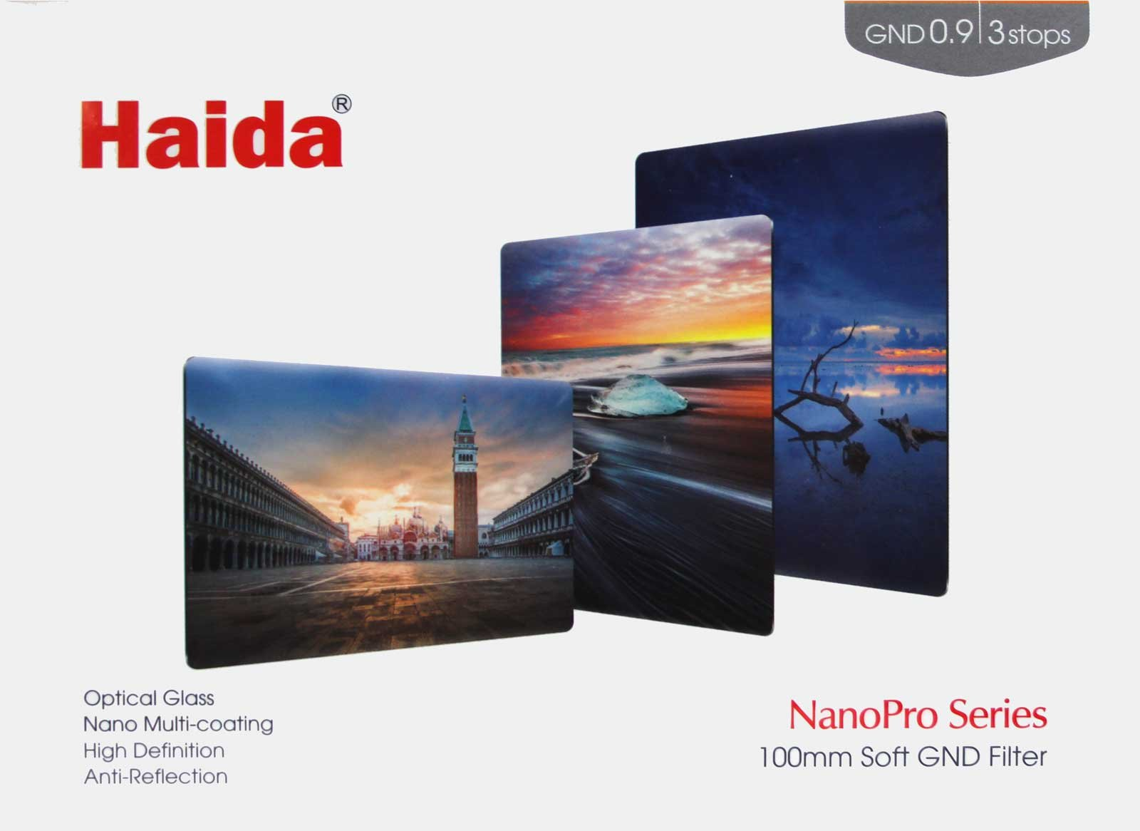 Haida NanoPro 100mm MC Graduated Neutral Density 0.9 Soft Edge (3-stop) ND Optical Glass Filter 100 4x6 by Haida