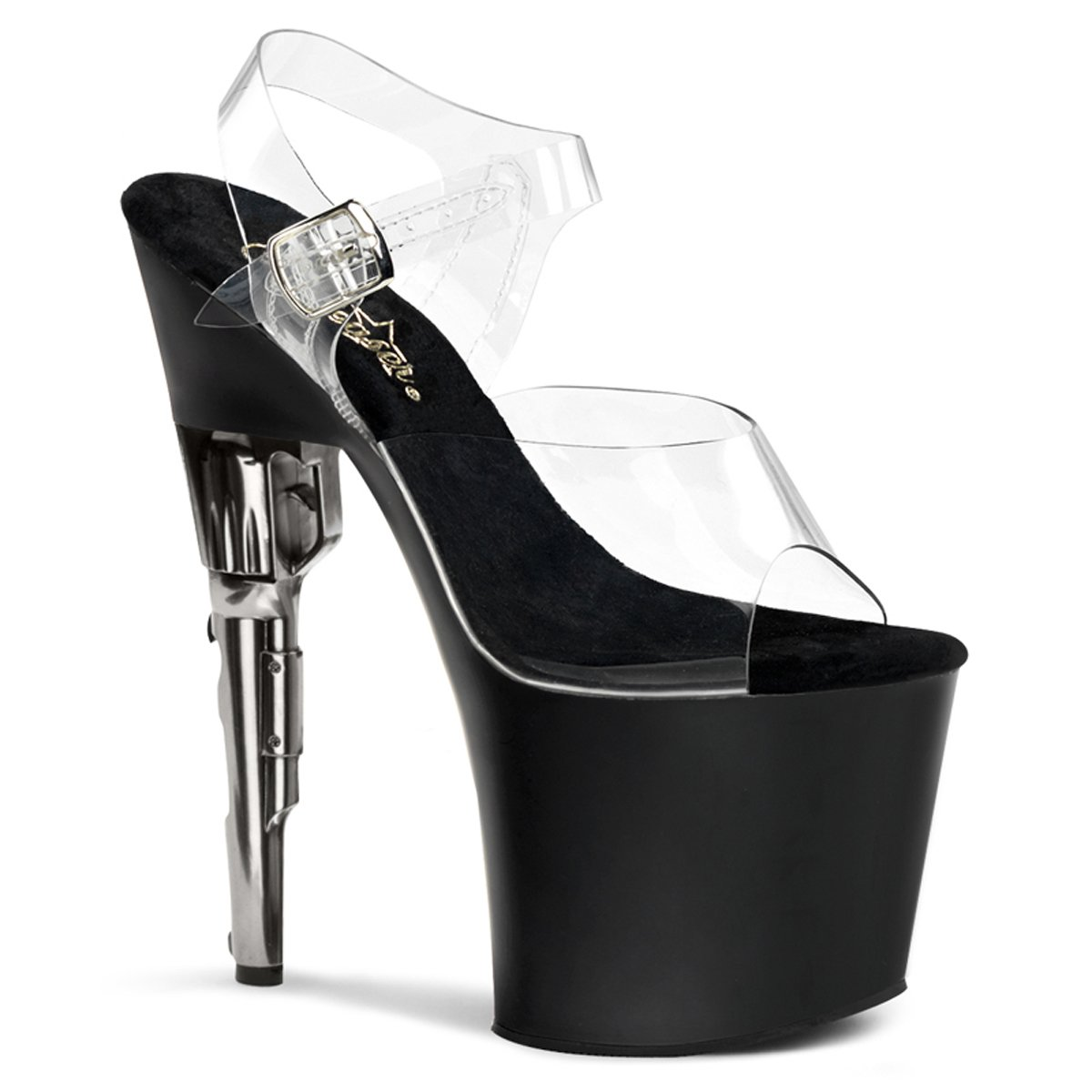 Pleaser Women's Bondgirl-708 Platform Sandal B004MR6B0K 12 B(M) US|Clr