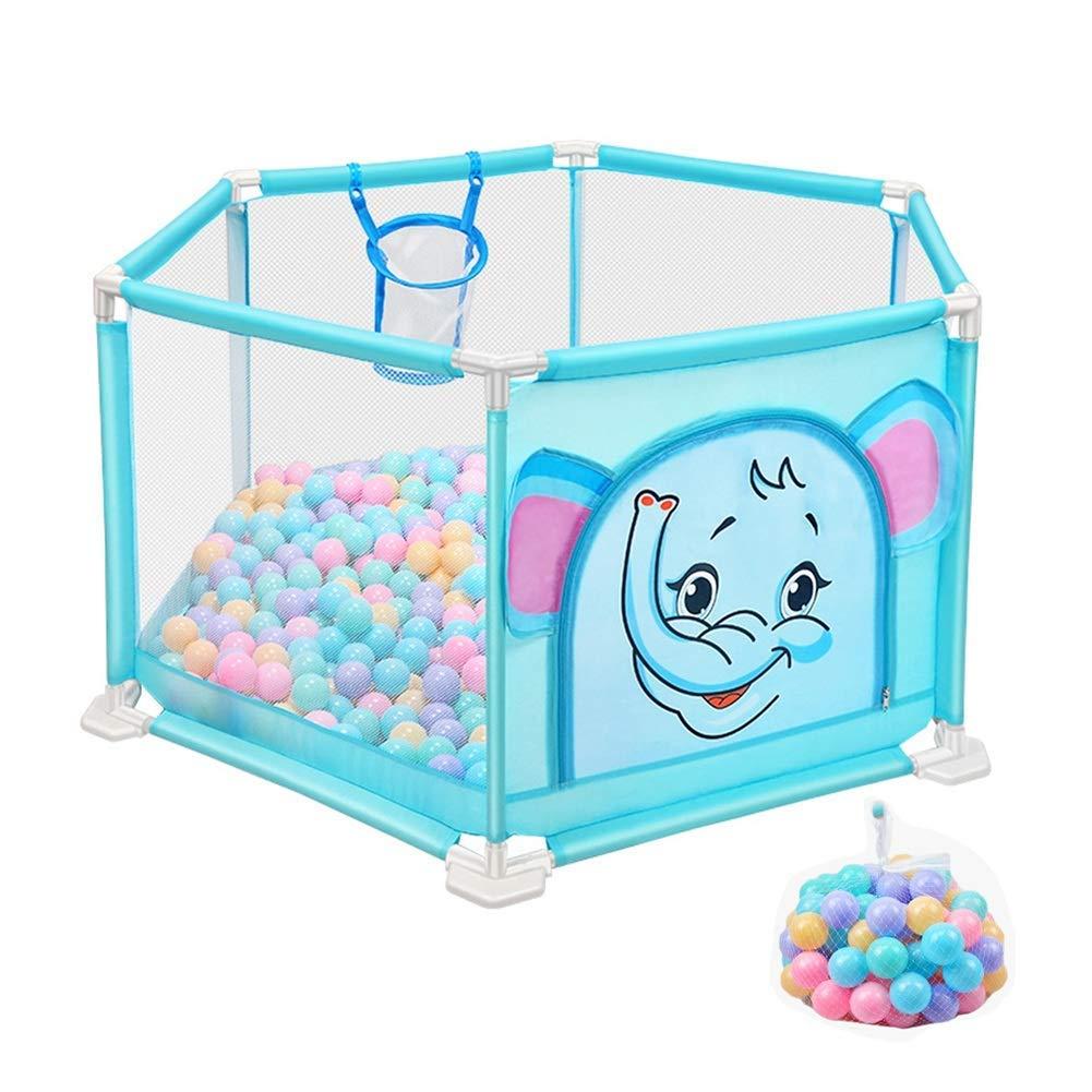 遊ぶ庭遊びフェンス赤ちゃんベビーサークル6パネルゲームフェンス屋内安全キッズ遊び場ボール、50 cm   B07V86DFLD