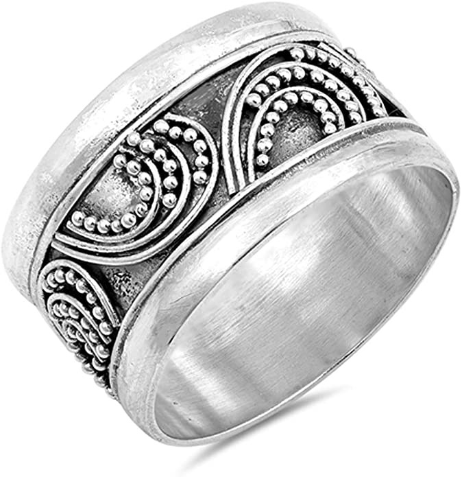 Solid 925 Sterling Silver Triple Balls Ring Jewellery Various Sizes