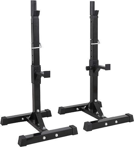 FYTTP Rack De Sentadillas Regulable En Altura Rack Musculaci/óN Barbell Rack Soporte Pesas Carga MAX 200 Kg