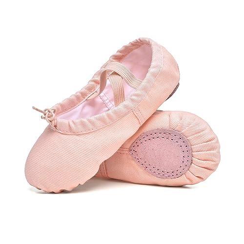 e1db6d36620d STELLE Girls Canvas Ballet Slippers Flats