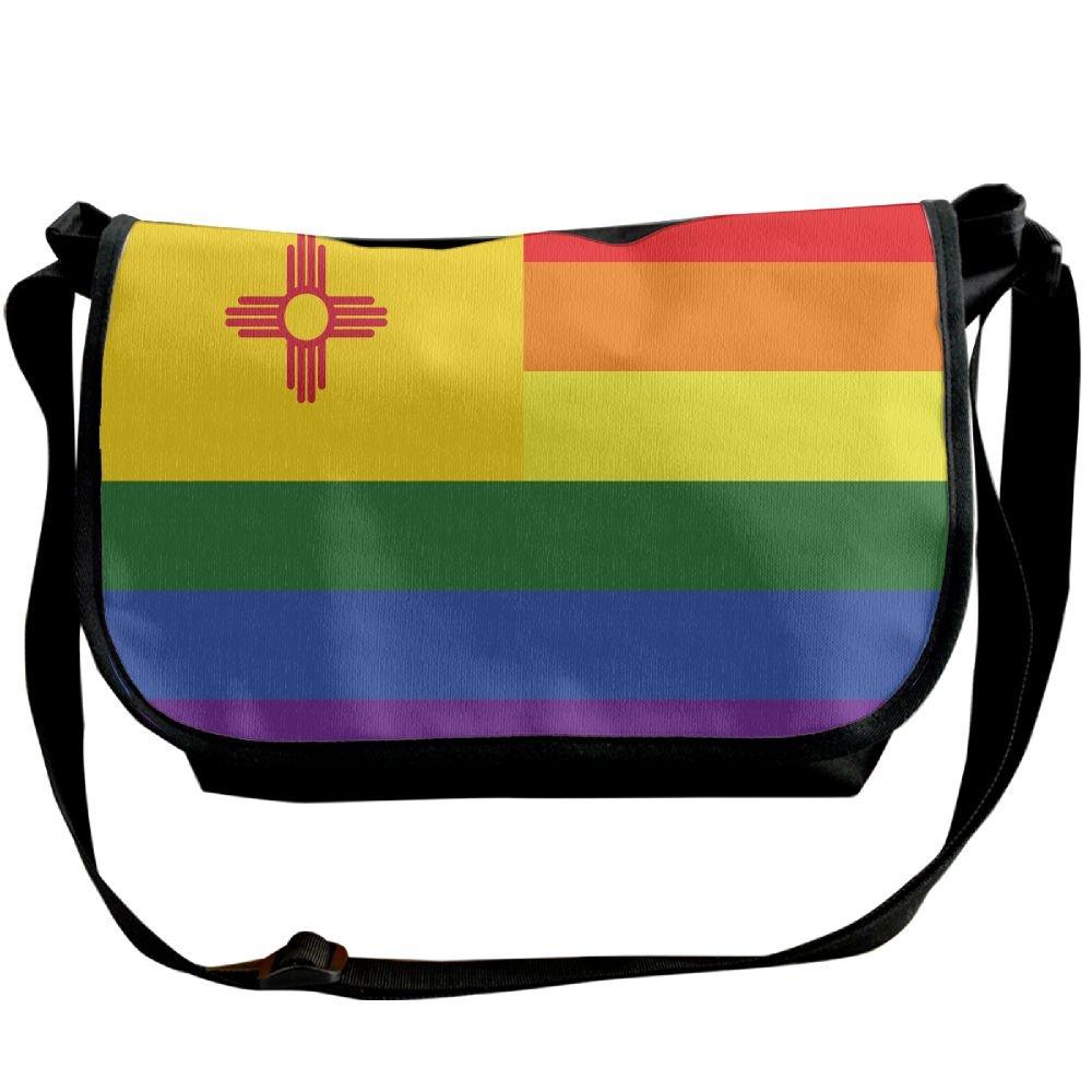 9aff45a35ccf Futong Huaxia Rainbow Flag New Mexico Travel Messenger Bags Casual Handbag  School Shoulder Bag Crossbody Bag