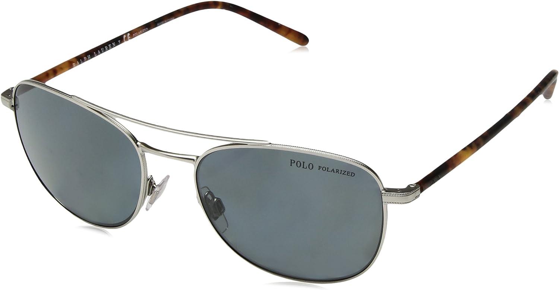 Ralph Lauren POLO 0PH3107 Gafas de sol, Aged Silver, 55 para ...