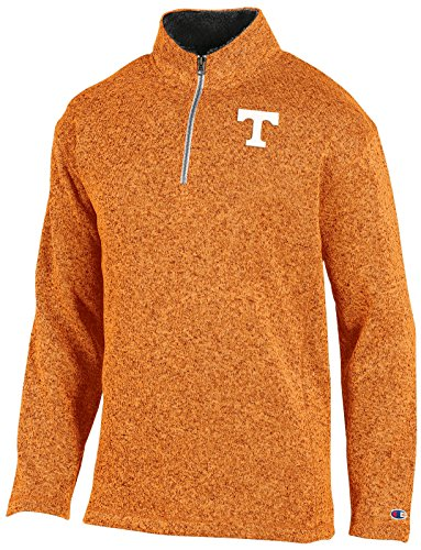 NCAA Tennessee Volunteers Adult Men Quarter Zip Fleece Pullov, Medium, Charcoal (Tennessee Hoodie Mens)