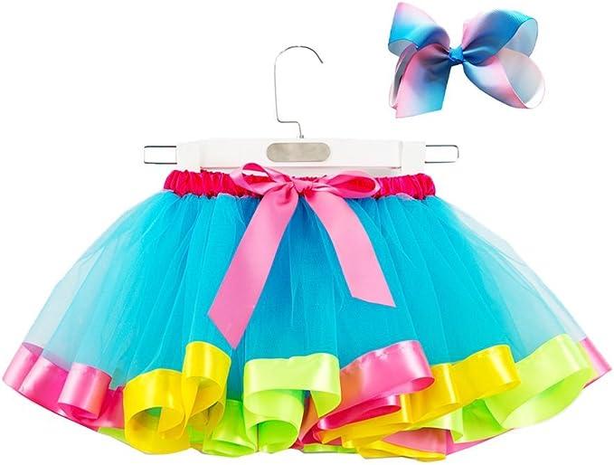 FENICAL Vestido de Falda de tutú para niñas con Conjunto de ...