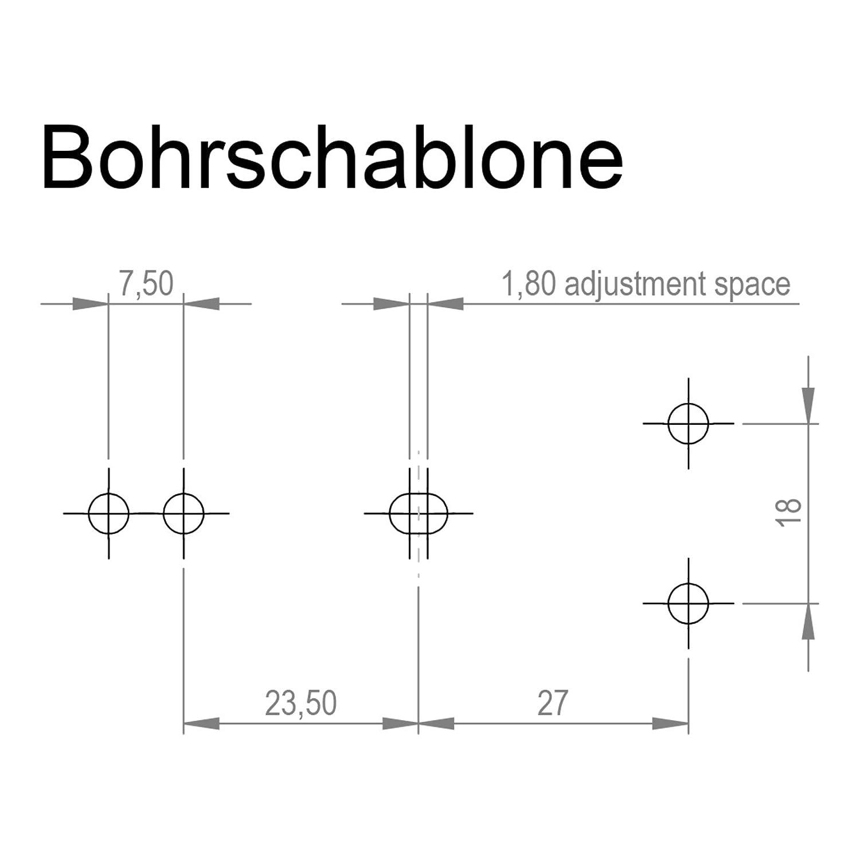 2 x Spannverschluss Catch #22 br/üniert Kniehebelspanner Tischverbinder Tischplattenverbinder Hebelverschluss von SO-TECH/®