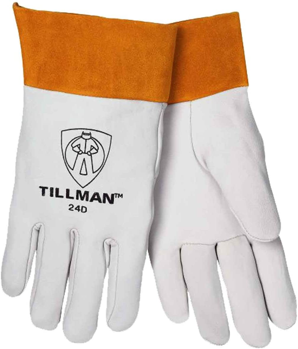 Tillman 44 LARGE TIG Welding Gloves Black ONYX Top Grain Kidskin Leather 1Pair