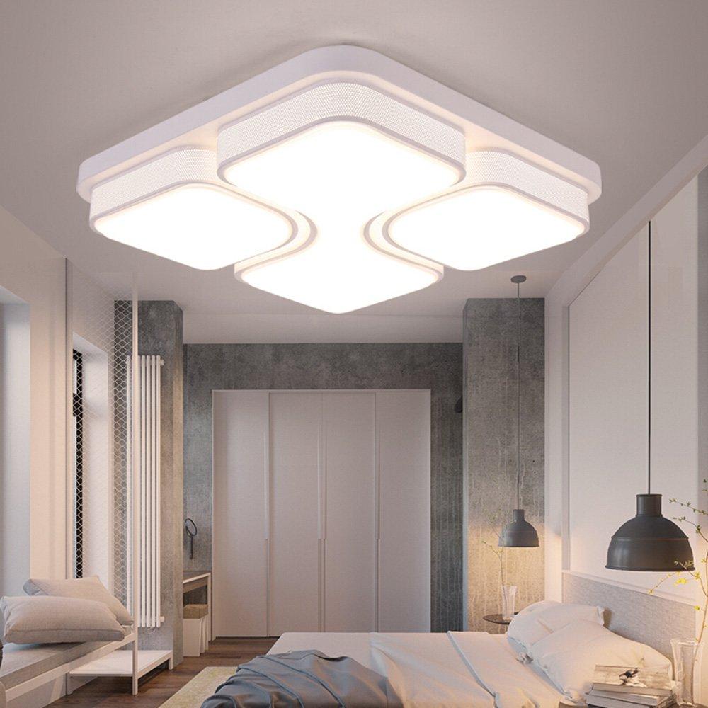 MYHOO 78W Modern Design LED Deckenlampe Dimmbar mit Fernbedienung LED Deckenleuchte Wohnzimmer Lampe Schlafzimmer K/üche Leuchte Energieklasse A++