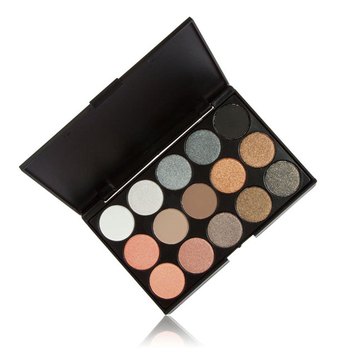 Amazon.com: goege aspecto natural 15 Color Shimmer Eyeshadow ...