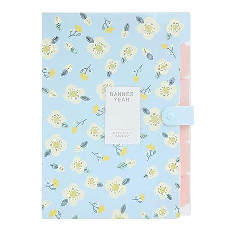 VEVICE Floral - Carpeta organizadora de Documentos, de PVC, de Tipo acordeón, Ideal para organizar Cartas y Documentos, para Oficina, escuelas, etc. ...