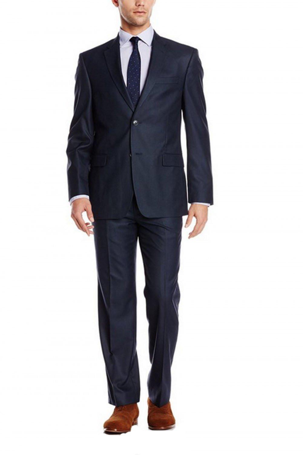 Love Dress Men's Navy Suit Two Button Jacket and Pant XXXXXXL