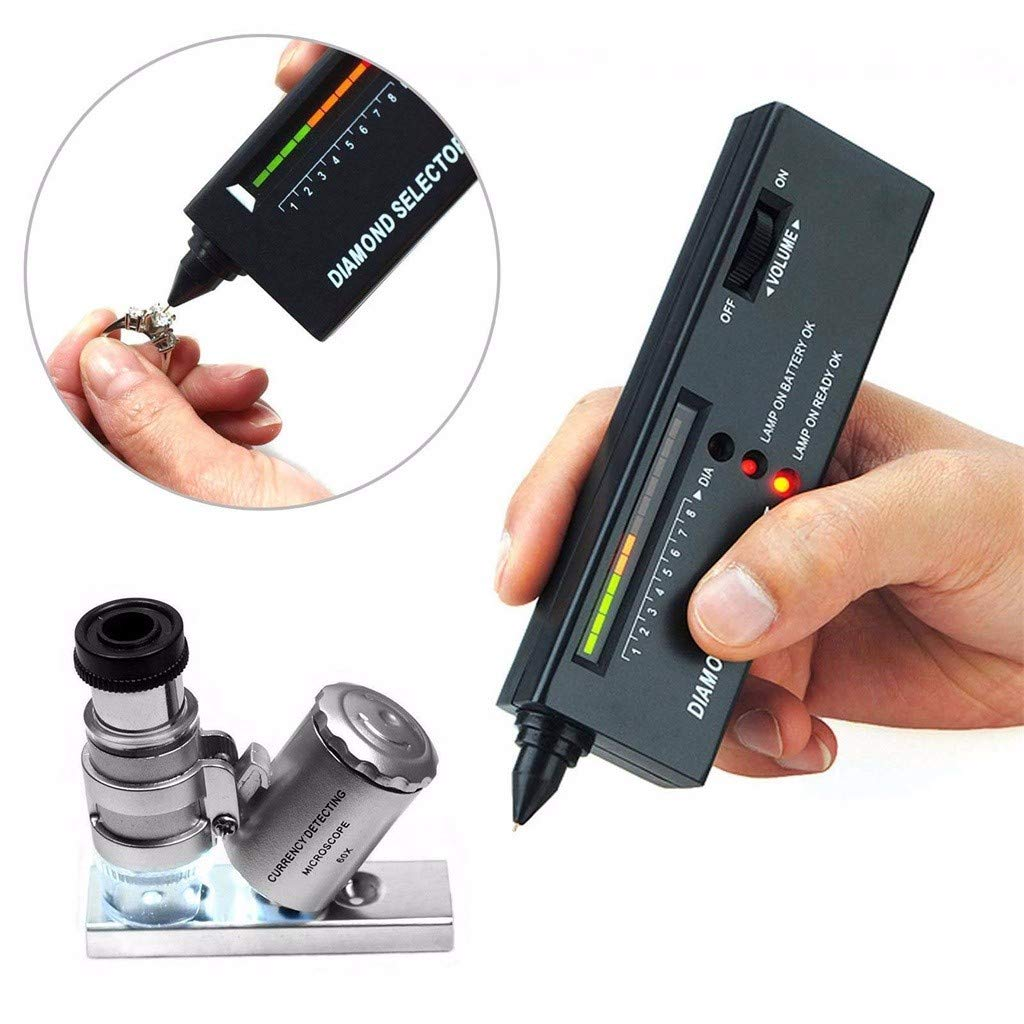 60X Illuminated Loupe Beuttiful Jeweler Diamond Tool Kit Portable Diamond Tester