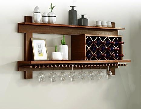 TH portavini Scaffale per vini in legno massiccio Mobile porta vino ...
