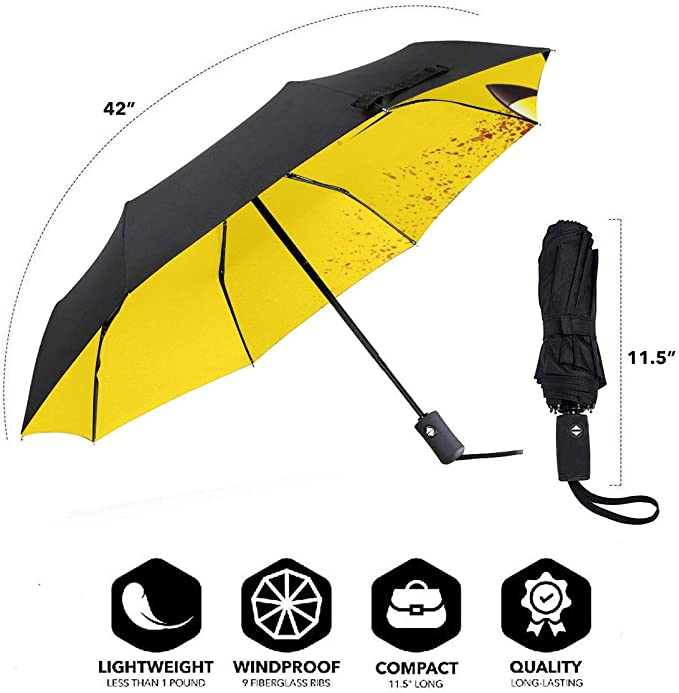 Triangle Circle Square Automatic Tri-Fold Umbrella Waterproof Protect Sunscreen Sturdy Windproof Lightweight Personalized Umbrellas For Unisex Womens Trip