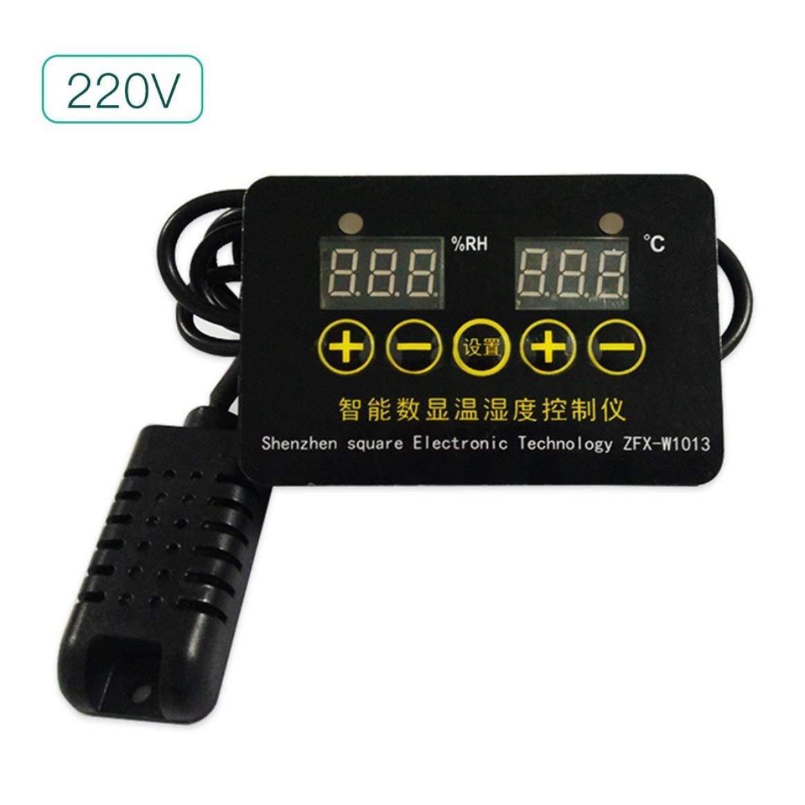 Controlador de Temperatura y Humedad Digital Inteligente Sensor de Sonda Tablero de Interruptor de Control de Temperatura Constante de Doble Propó sito Delicacydex