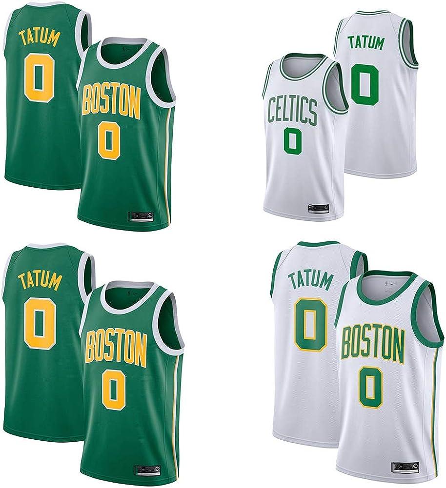 DECORATZ Celtics Jayson Tatum # 0 Jugendtrikot schnell trocknende schwei/ßabsorbierende Herren-Basketballweste aus Polyester
