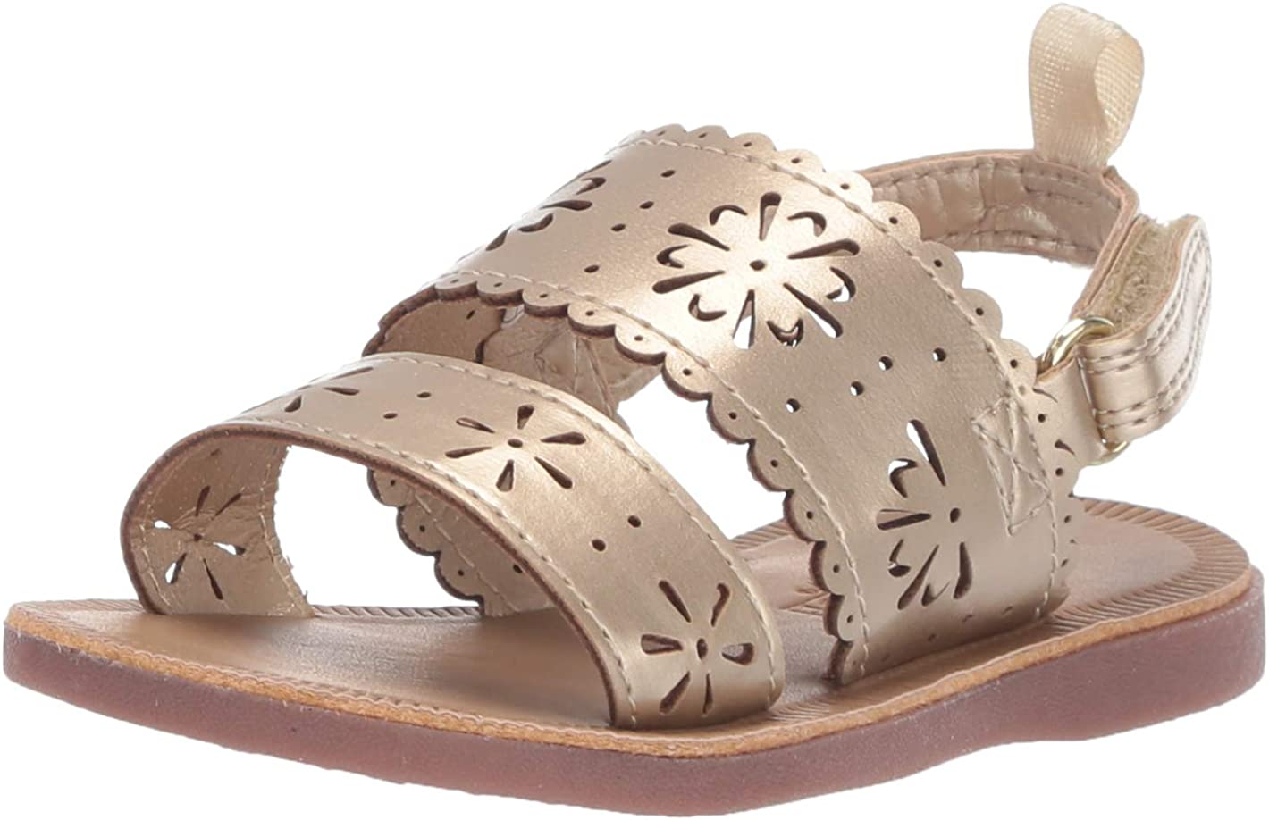 Gold, OshKosh BGosh Aditi Girls Floral Cut-Out Sandal