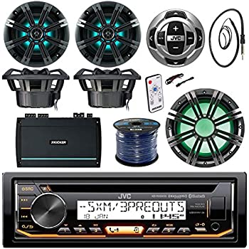 Amazon.com: JVC KD-R97MBS Marine Stereo Bundle Kit With