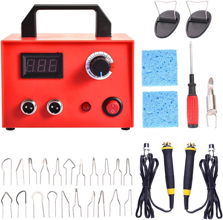 Wei/ß Dual Port + Digitalanzeige S SMAUTOP Holzverbrennungs-Kit 60-W-Brandschutzger/ät mit 23 Brandschutzdrahtspitzen Einstellbare Temperaturregelung f/ür Holz Leder und K/ürbis