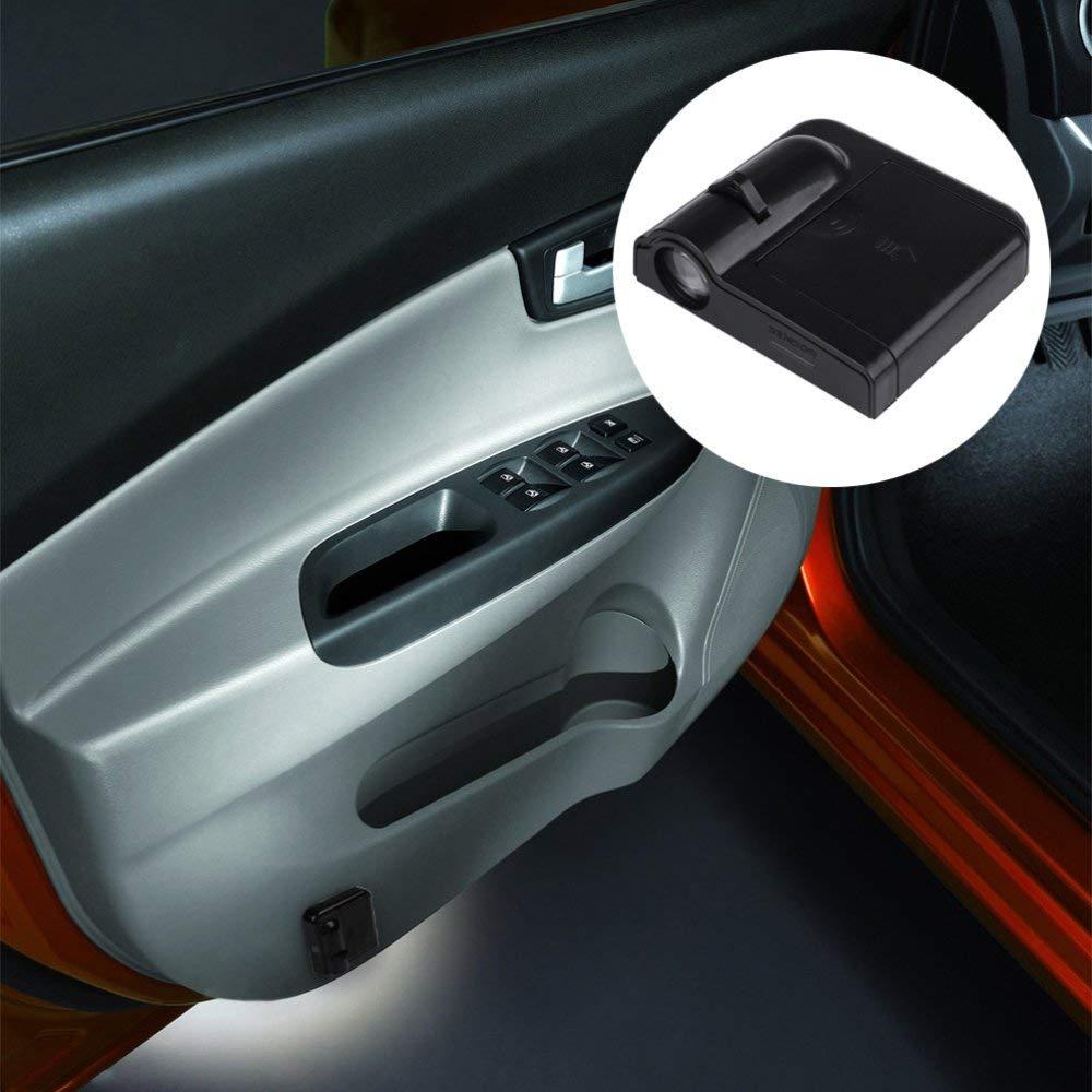 4 pezzi porta auto Welcome Batman Pattern Shadow Light luci per porte di cortesia Led porta proiettore per auto