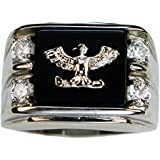 ISADY - Pascual - Men's Ring - stainless steel - Cubic Zirconia - Email Black