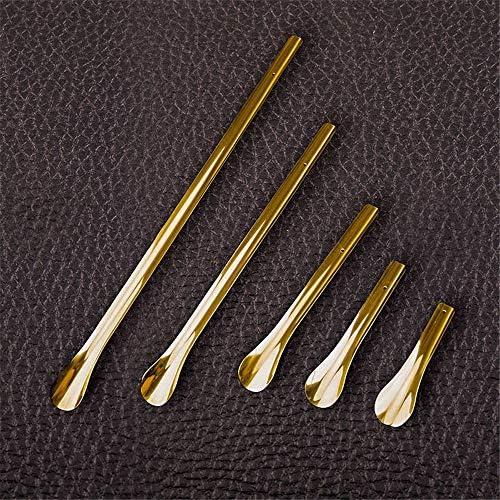軽量 真鍮メタルシューホーンロング靴べら取扱 耐用 (Color : Golden, Size : 55cm)