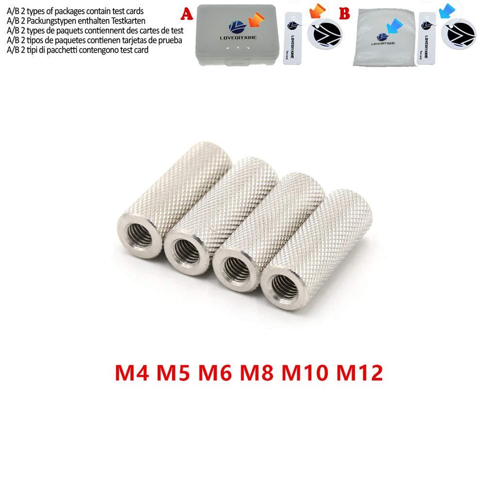 20pcs R/ändelmutter M4 M5 M6 M8 m10 m12 Edelstahl Lange R/ändelmutter von Hand festziehen,M6x20 10 St/ück 10pcs