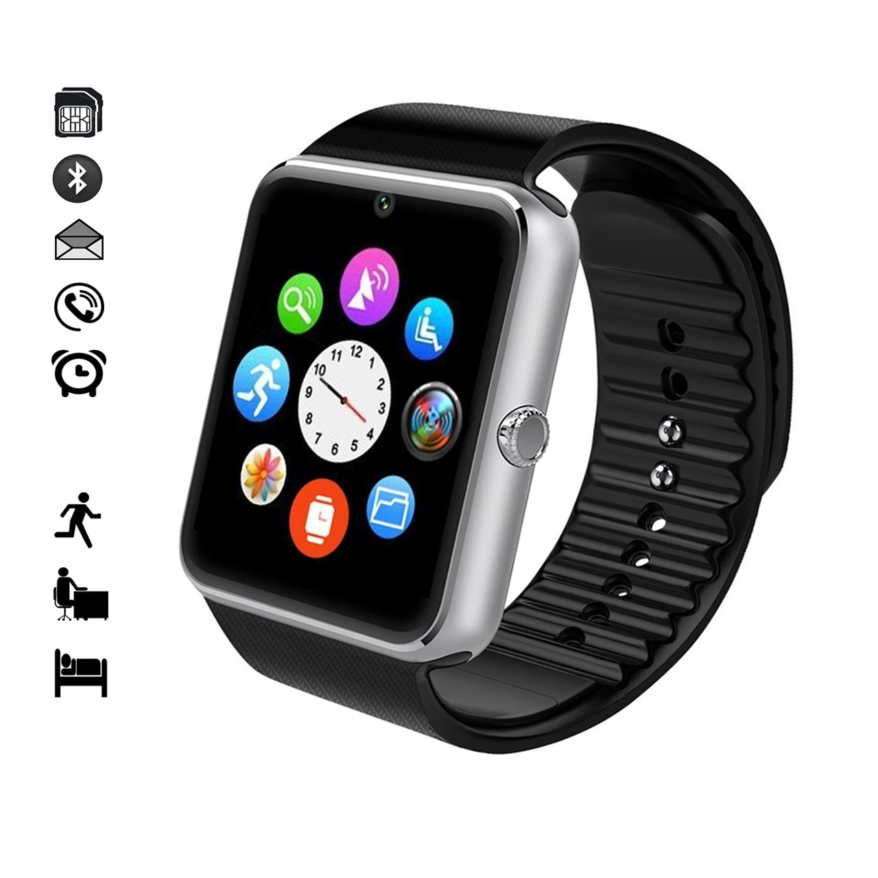 MallTEK Smartwatch Bluetooth mit TF SIM Kartenslot Amazon