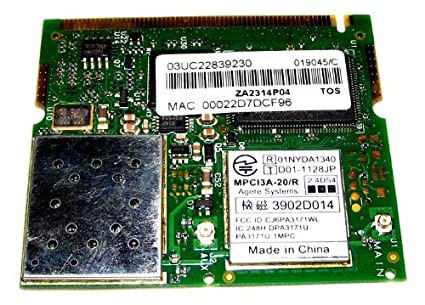 AGERE SYSTEMS TOSHIBA WIRELESS LAN CARD WINDOWS VISTA DRIVER