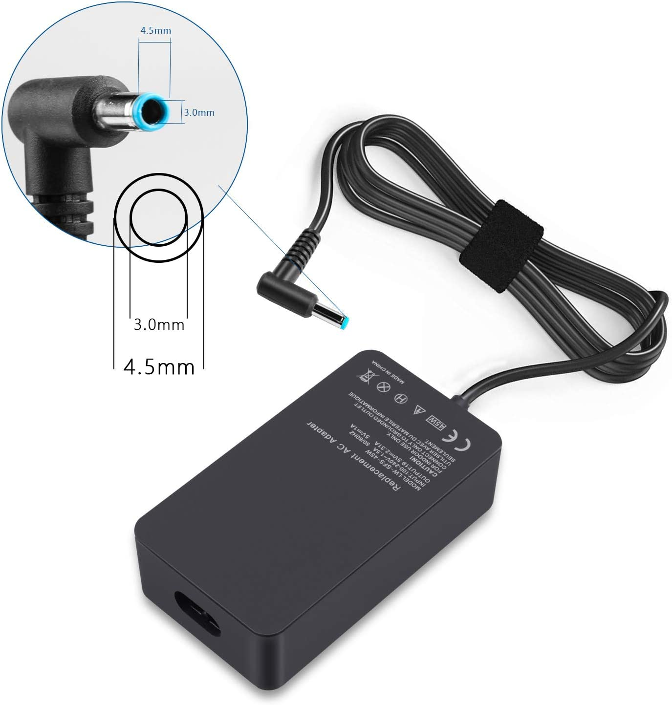 45W AC Adapter Power Supply for HP 741727-001 741553-850 854054-002 ADP-45WD B HSTNN-CA40