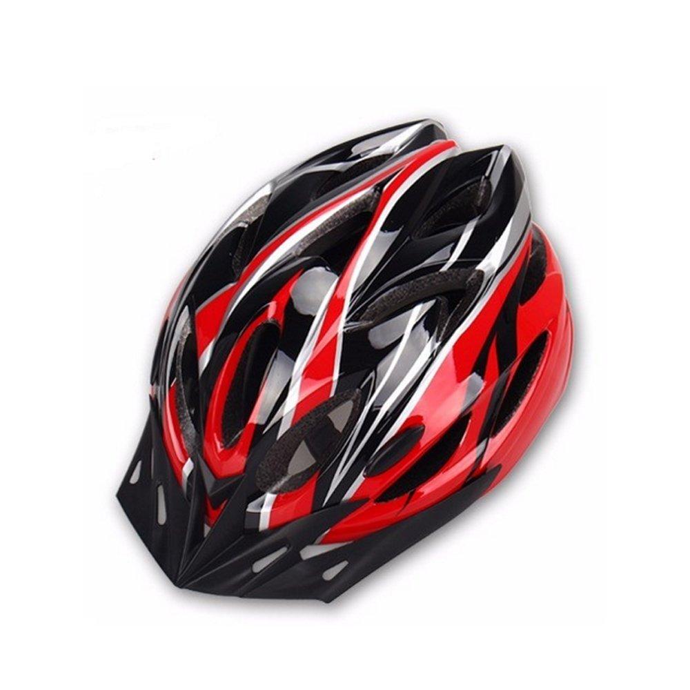 Casco de bicicleta unisex ajustable ligero rojo