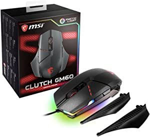 MSI Gaming USB RGB Adjustable DPI Programmable Gaming Grade Optical Mouse (Clutch GM60 Gaming Mouse)