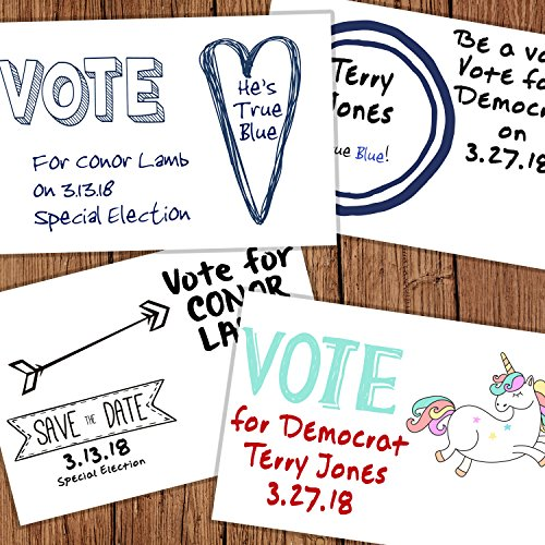 100 Pack of Blank Postcards. Each post card in this patriotic, bulk set is 4 x 6, USPS compliant (mailable), and Made in USA. Mail to voters to get votes. Flip side is plain white and unused. (blank) by Maye Market (Image #4)