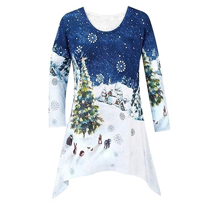 d101c65fb POTO Christmas Sweatshirt, Women Christmas Printed Shirt Tunic ...
