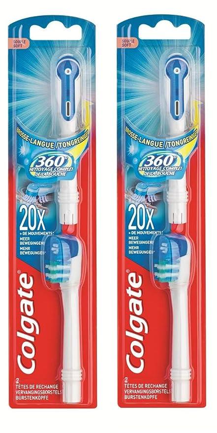 Colgate - 360° - cabezales para cepillo de dientes a pilas (dureza suave,