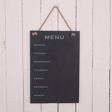 Slate para colgar Diseño de chica menu (con el días de la ...