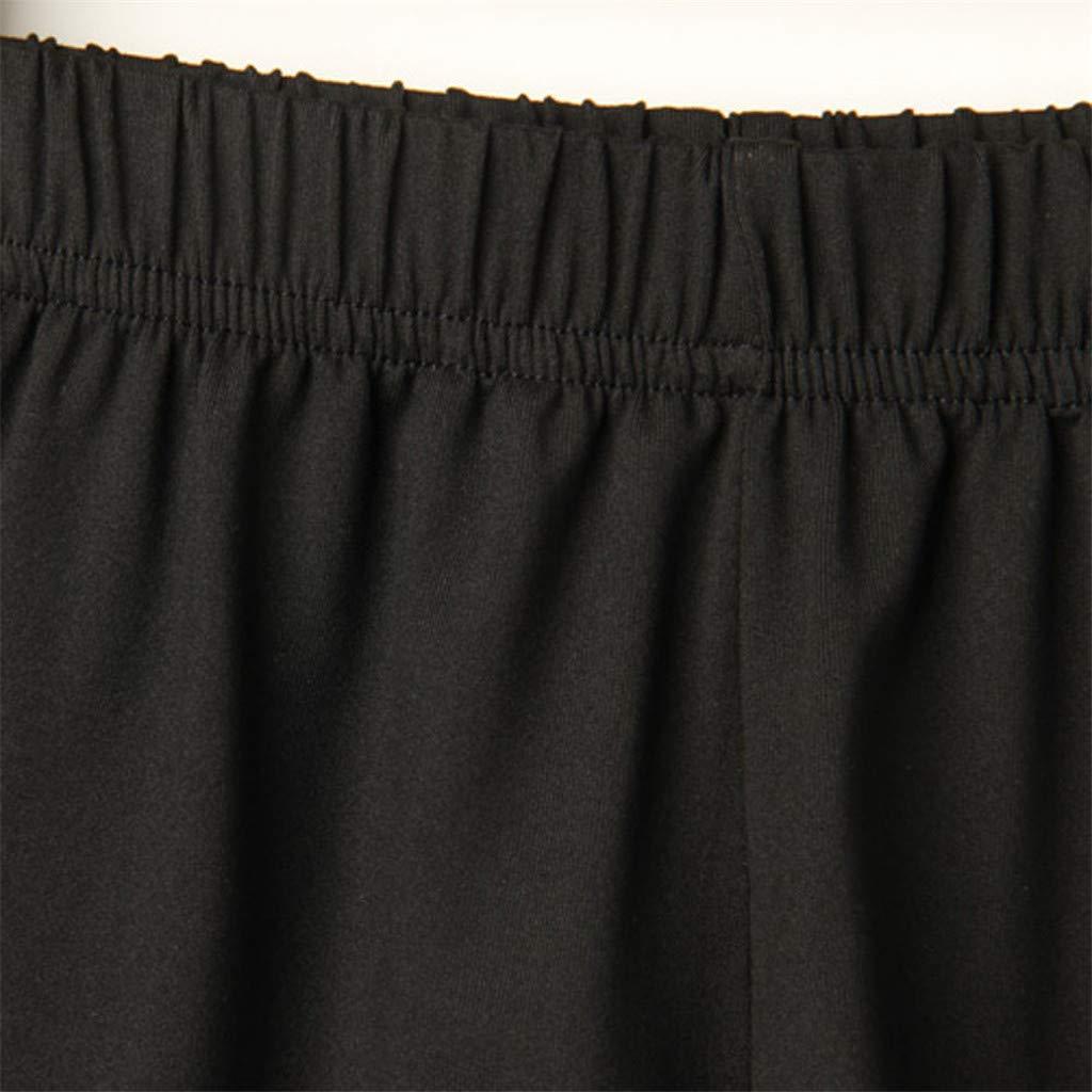 BAOHOKE Casual Loose High Waisted Athletic Shorts for Women,Elastic Band Summer Pocket Wide Leg Hot Pants(Black,L) by BAOHOKE (Image #2)
