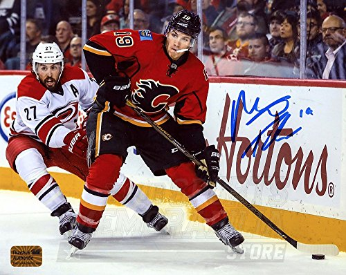 Matt Tkachuk Calgary Flames Signed Autographed Home Action vs Carolina 8x10