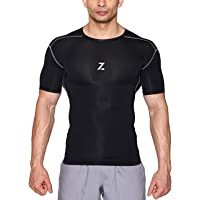Azani Series Half Sleeve Compression Tops - Black