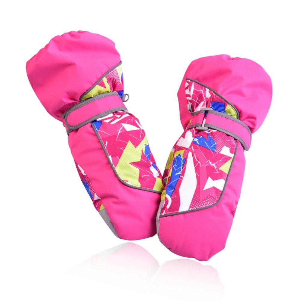 SZHOWORLD Kids Toddler Baby Ski Snowboarding Windproof Waterproof Stay On Winter Youth Mittens Gloves Boys Girls