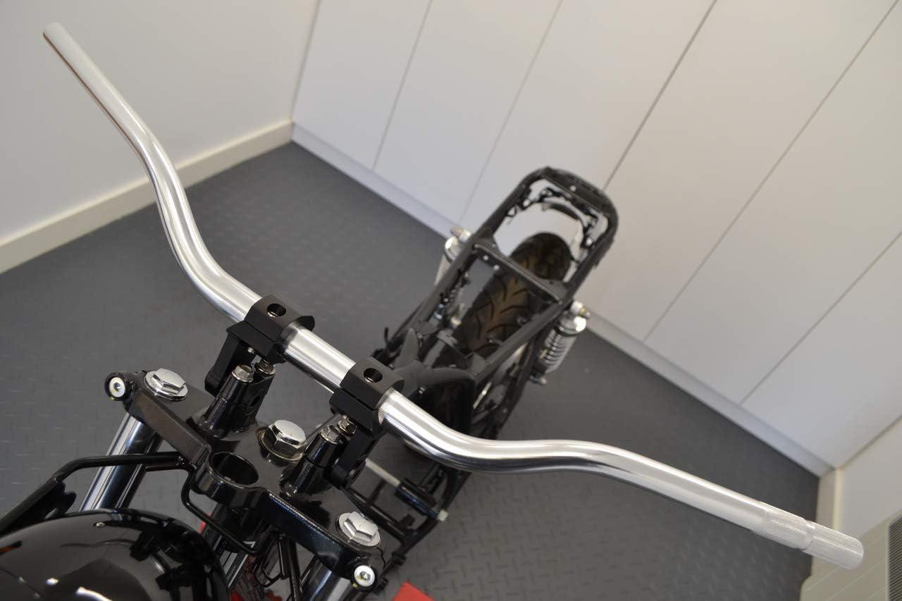 Cromo Moto Manubrio Affusolato 28mm Fat Barre Motocross Streetfighter Supermoto Moto