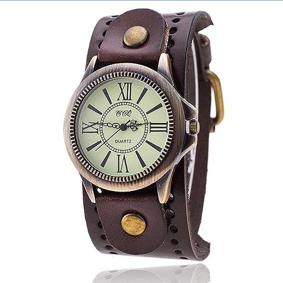 VEHOME Relojes Inteligentes relojero Reloj reloje hombresRelojes de Pulsera Marcas Deportivos-CCQ Marca de Lujo Vintage Cuero Reloj Hombres Mujeres Reloj de ...