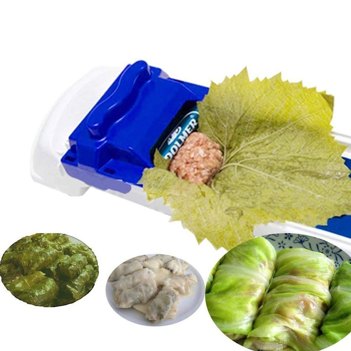 Funnyrunstore Vegetable Meat Rolling Tool Roll Sushi Maker Rolling Cookware Tool Innovadora Cocina Vegetal Roller Machine Blanco y Azul
