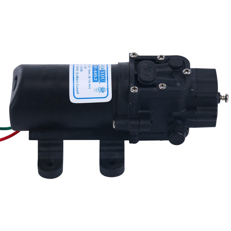 Amarine-made 12v Water Pressure Diaphragm Pump 4.5 L/min 1.2 GPM 100 PSI cutoff - Caravan/rv/boat/marine
