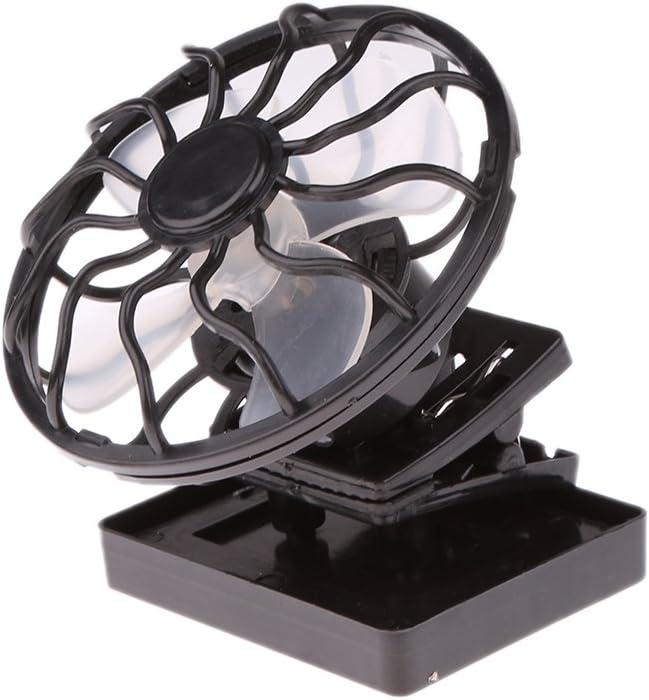 SM SunniMix 2X Mini Ventilador de Viaje de Energ/ía Solar Coche Accesorios Pr/áctico